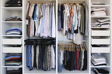 تنسيق دولاب الملابس